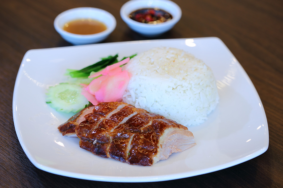Roasted Duck with Rice: 95 Baht