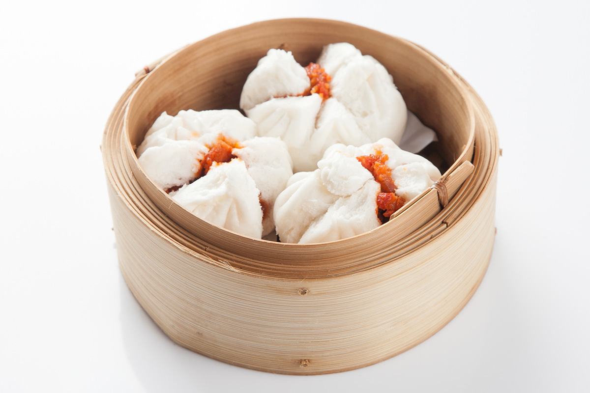 Steamed BBQ Honey Pork Buns: 70 Baht